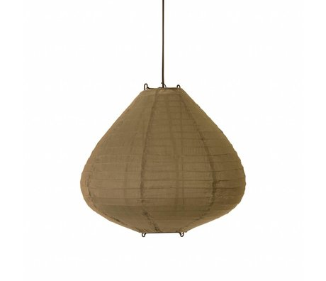 HK-living Lampion khaki bruin katoen 50cm