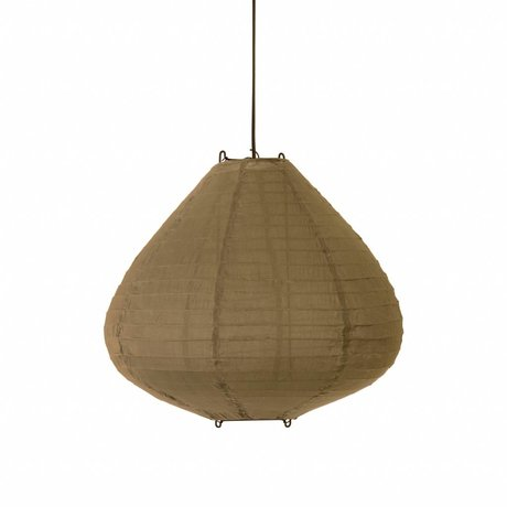 HK-living Lampion khaki bruin katoen Ø50x43cm