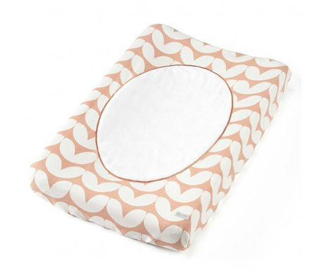 Roomblush Aankleedkussenhoes Hearts roze katoen badstof 70x51cm