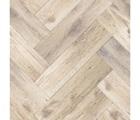 KEK Amsterdam Behang Visgraat vloer bruin medium vliespapier 97,4x280cm