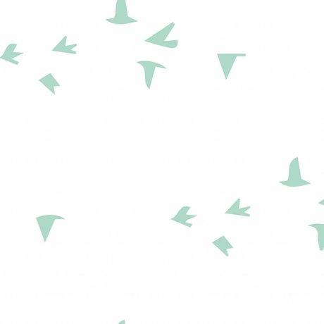 Roomblush Behang Fly with me mint groen vliesbehang 1140x50cm