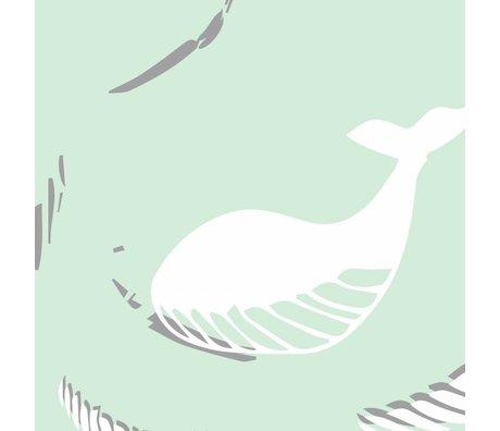 Roomblush Behang Be free mint groen vliesbehang 1140x50cm