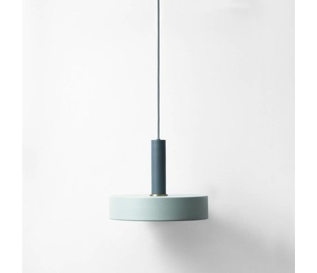 Ferm Living Hanglamp Record high dusty blauw donker blauw metaal