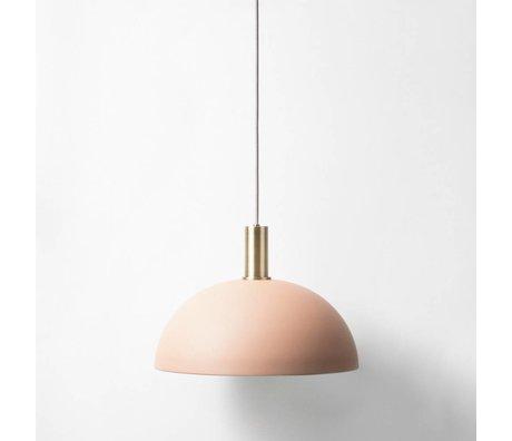 Ferm Living Hanglamp Dome low roze brass goud metaal