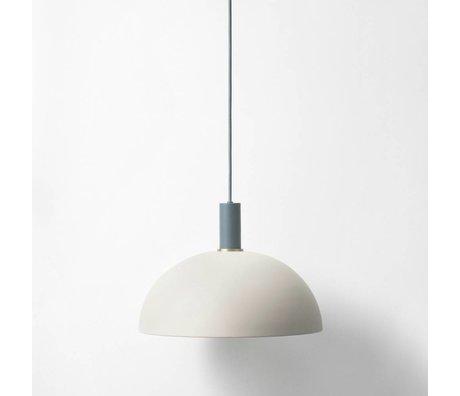 Ferm Living Hanglamp Dome low licht grijs donker blauw metaal