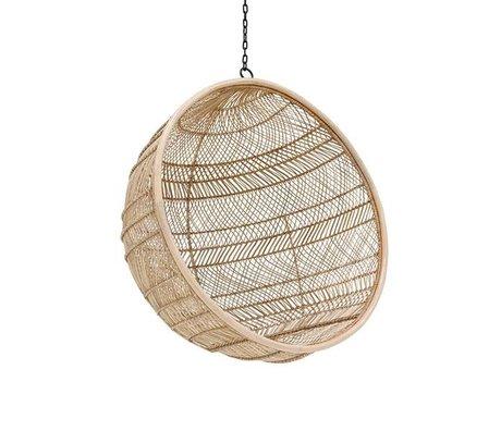 HK-living Hangstoel Bohemian bal naturel bruin rotan 108x108x83cm