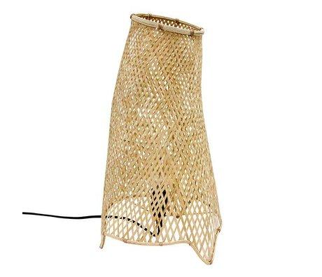 HK-living Tafellamp organisch riet bruin L 28x28x50cm
