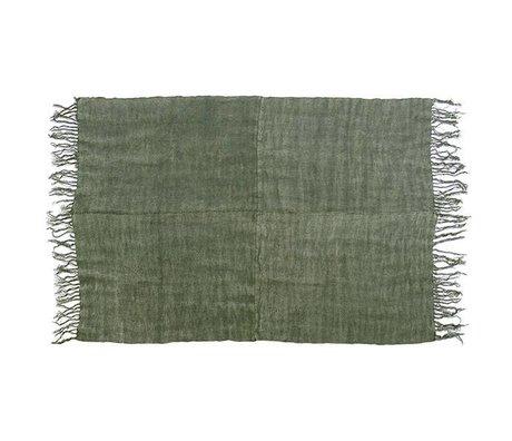 HK-living Tapijt leger groen linnen 155x215cm