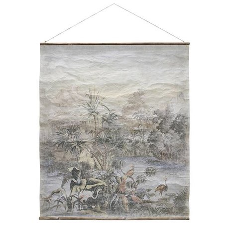 HK-living Schoolplaat Jungle XL Vintage 140x163cm