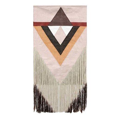 HK-living Wandkleed Aztec nude roze textiel 90x180cm