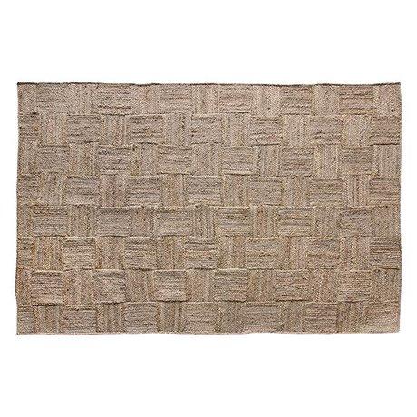 HK-living Vloerkleed Patched naturel bruin jute 180x280cm