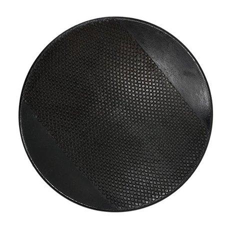 HK-living Dienblad chulucanas zwart keramiek 30x30x4cm