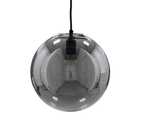 HK-living Hanglamp glazen bal smokey grijs ø30cm