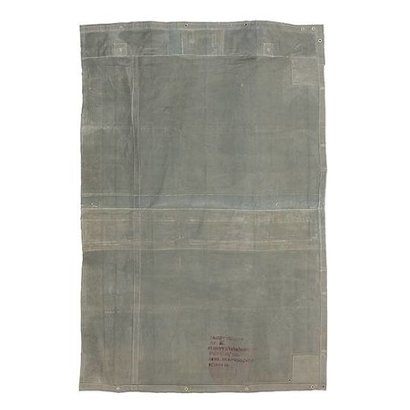 HK-living Vloerkleed vintage grijs canvas 180x280cm