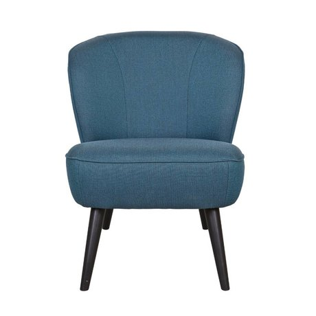LEF collections Fauteuil Sara petrol blauw polyester 70x59x71cm