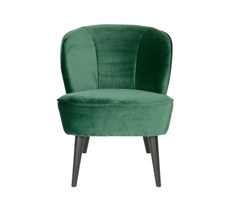 LEF collections Fauteuil Sara groen fluweel polyester 70x59x71cm