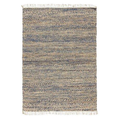 LEF collections Vloerkleed Vista blauw katoen 120x170cm