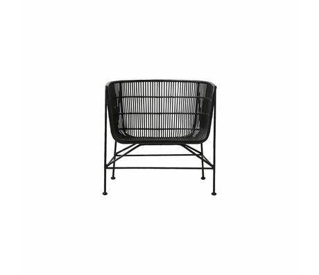 Housedoctor Stoel Coon zwart rotan 60.5x70x70cm