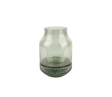 pt, Vaas Gem groen glas Ø16x23,5cm
