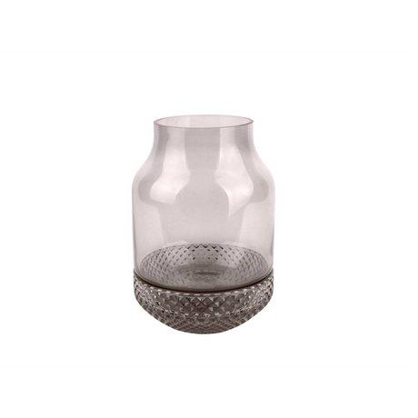 pt, Vaas Gem grijs glas Ø16x23,5cm