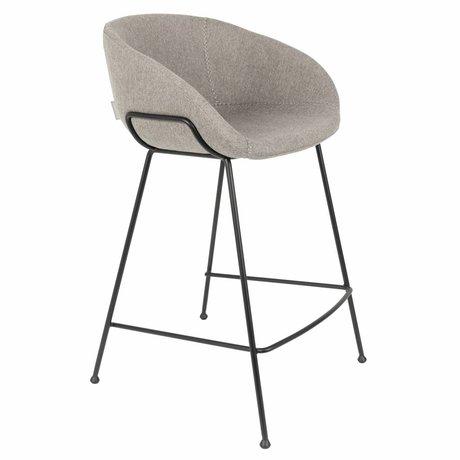 Zuiver Barkruk Feston Fab Counter grijs polyester 54,5x53x88,5cm
