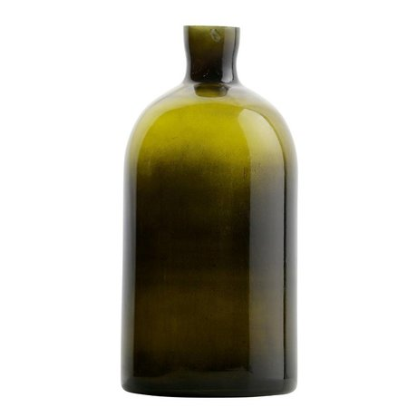 BePureHome Vaas Chemistry groen glas L 30xØ15cm