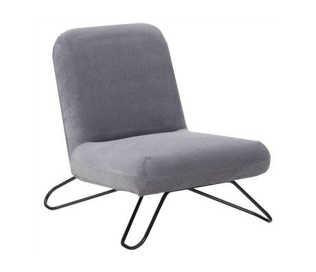 I-Sofa Fauteuil Finn grijs textiel metaal 66x82x71