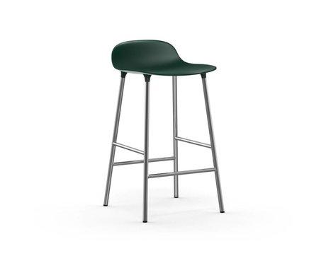 Normann Copenhagen Barkruk Form groen kunststof chroom 65cm