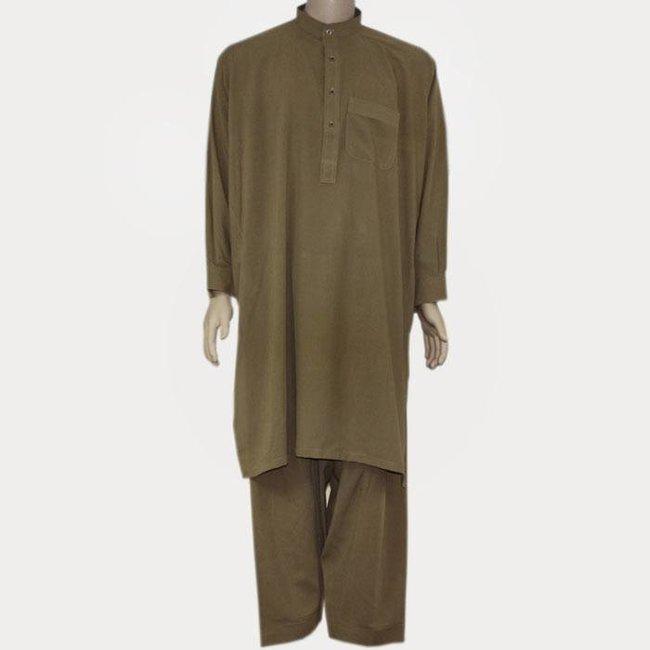 Salwar Kameez Herren - Camelbraun