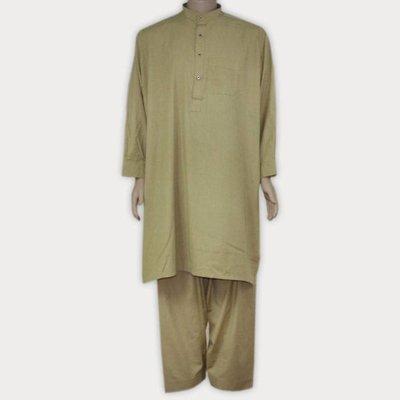 Salwar Kameez Men - Cream Green
