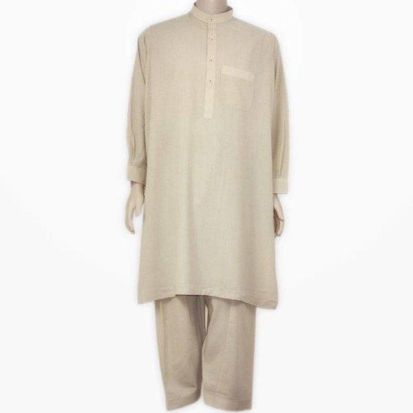 Salwar Kameez Men - Cream Beige
