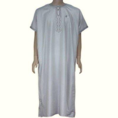 Arabischer Anzug Halbarm in Grau