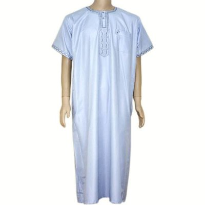 Arabischer Anzug Halbarm in Hellblau
