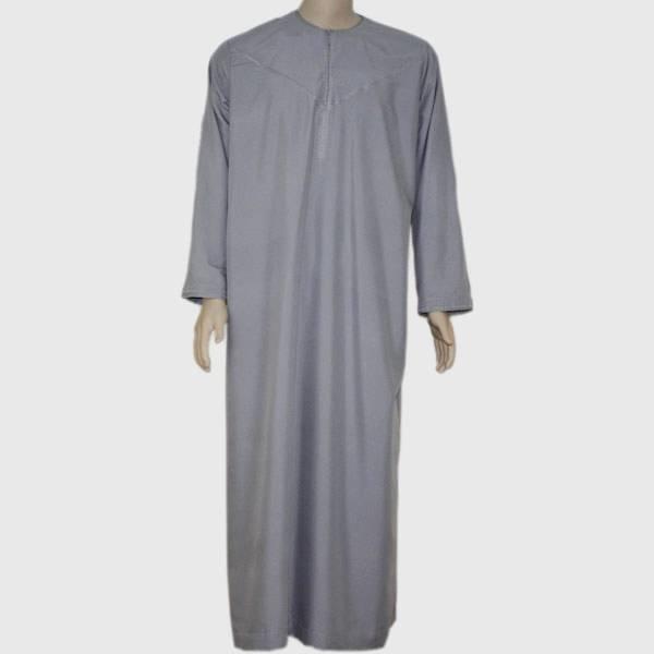 Arabischer Anzug mit Stickerei in Dunkelgrau