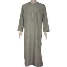 Arabischer Anzug mit Stickerei - Khaki