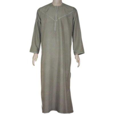 Arabischer Anzug mit Stickerei in Khaki