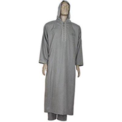 Marokkanischer Anzug mit Hose in Dunkelgrau