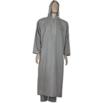 Moroccan suit with pants in Dark Grey