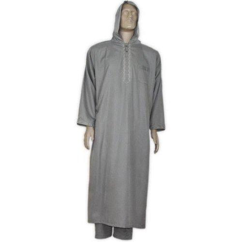 Moroccan Jellaba m. Trousers - Dark Grey