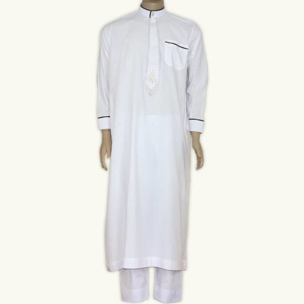 Arab Galabiyah with matching pants in White