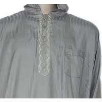 Moroccan suit with pants in Light Grey