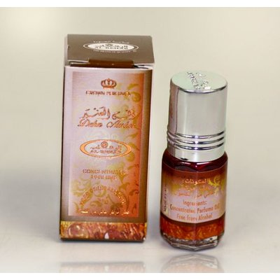 Al-Rehab Perfume oil 3ml Dehn Amber by Al Rehab - Alcohol-Free perfume