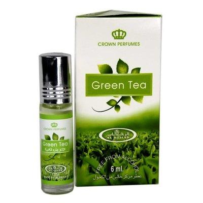 Al-Rehab Perfume Oil Green Tea by Al Rehab 6ml - Alcohol-Free perfume