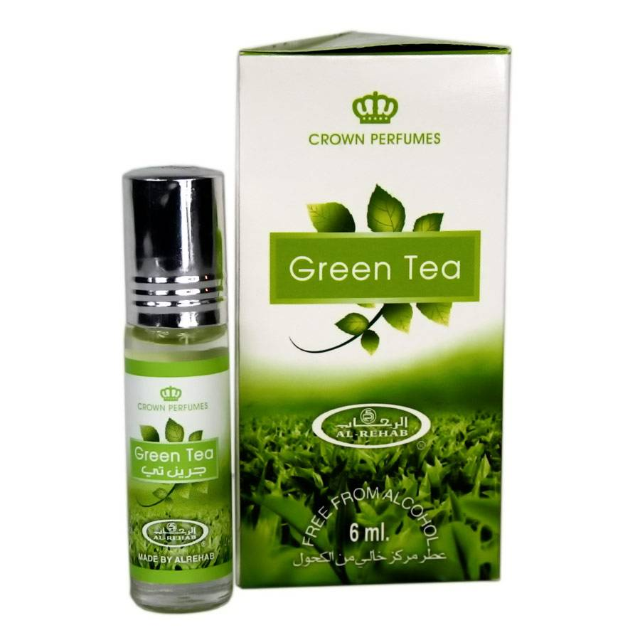 Al Rehab Perfume Oil Green Tea By Al Rehab 6ml Alcohol