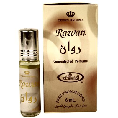 Al-Rehab Concentrated perfume oil Rawan by Al Rehab 6ml Perfume free from alcohol