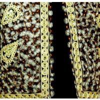 Oriental Indian mirror Vest - Black