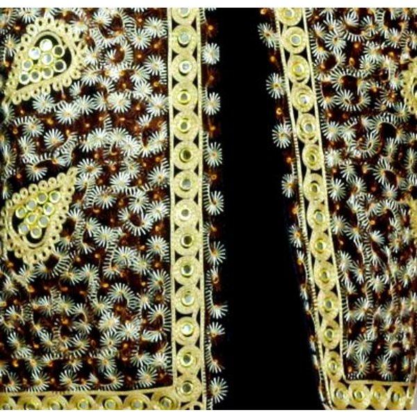 Orientalische Indische Spiegelweste - Schwarz