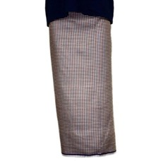 Traditional Dhoti-leg dress - brown plaid