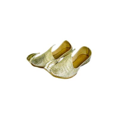 Indian beak shoes - Men Khussa in Gold
