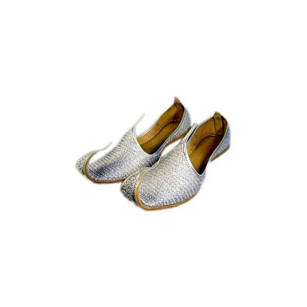 Indian beak shoes - Men Khussa in silver